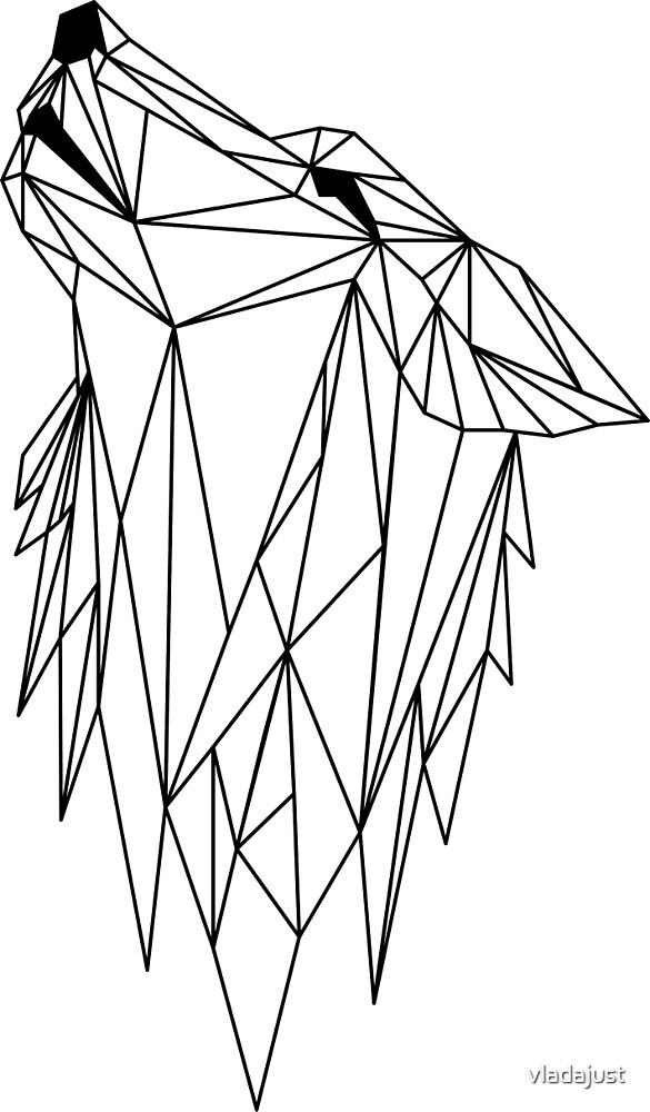 polygonal wolf  by vladajust