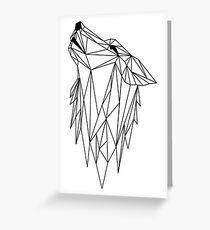 polygonal wolf  Greeting Card
