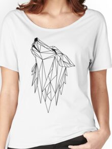 polygonal wolf  Women's Relaxed Fit T-Shirt