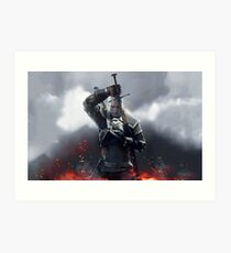 The Witcher III Work Geralt :) Art Print