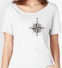 Dotwork Compass Mandala Women's Relaxed Fit T-Shirt