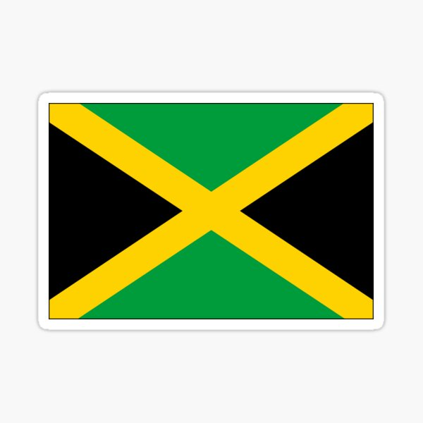 Flagge von Jamaika Sticker
