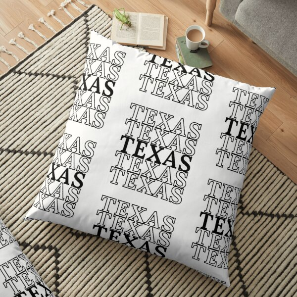 repeated text Floor Pillow