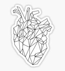 polygonal heart Sticker