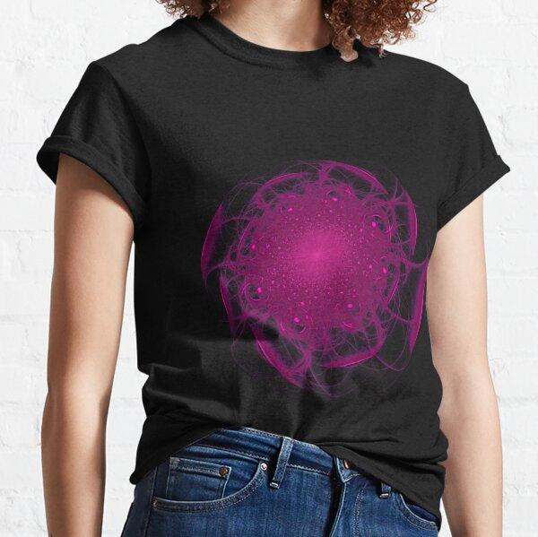 Fuchsia Fractal Bloom Classic T-Shirt