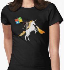 Ninja Cat Unicorn Women's Fitted T-Shirt
