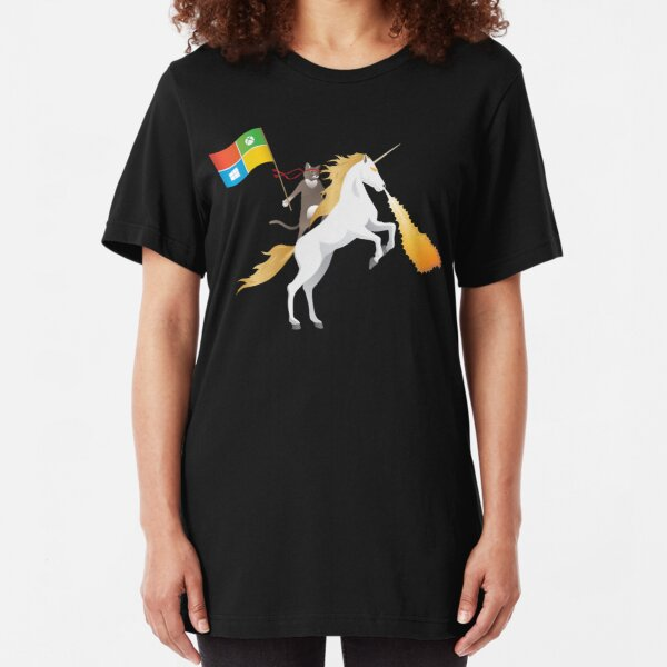 Ninja Cat Unicorn Slim Fit T-Shirt