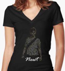 Newt Women's Fitted V-Neck T-Shirt