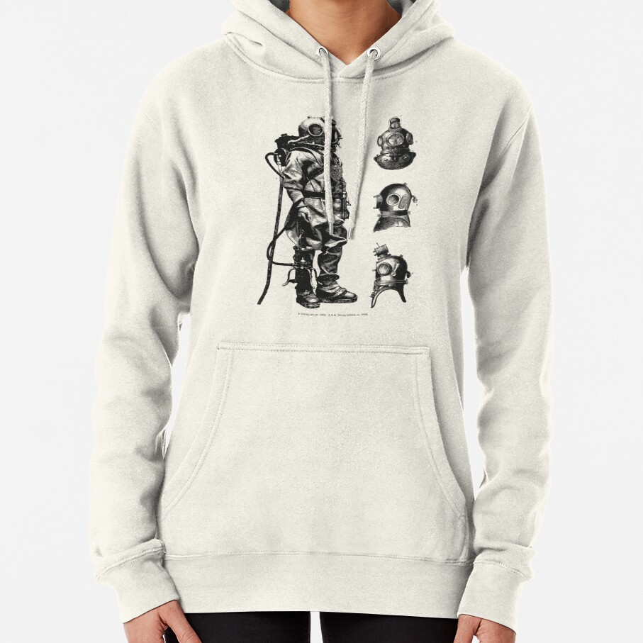 Vintage Deep Sea Diver | Nautical |  Pullover Hoodie