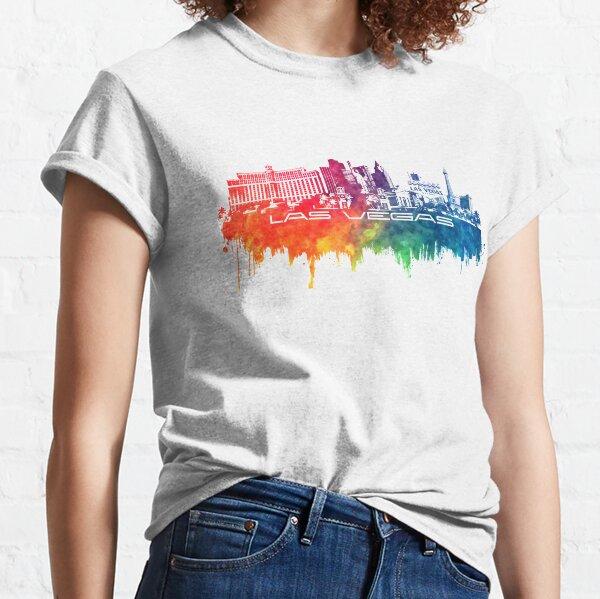 Las Vegas skyline city color Classic T-Shirt