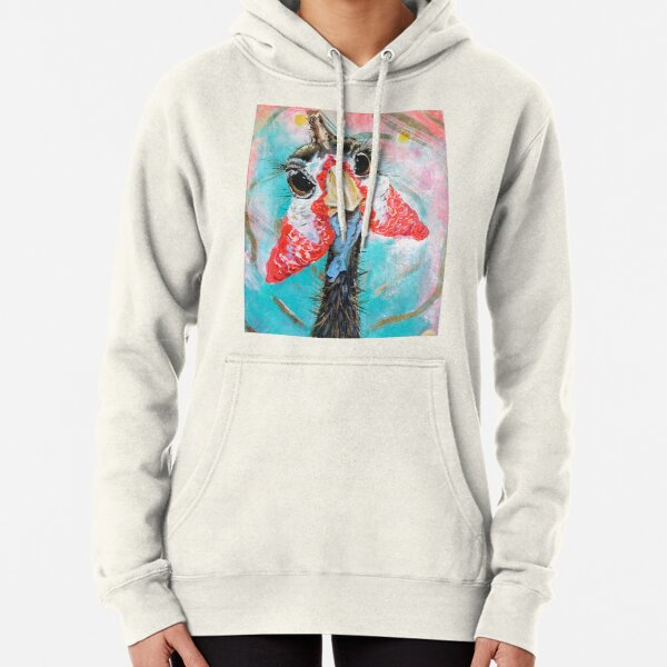Guinea fowl with long eyelashes Pullover Hoodie