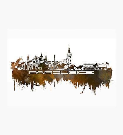 Pardubice skyline city brown Photographic Print