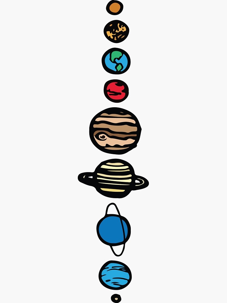 Planets Colour Sticker by WawaShop