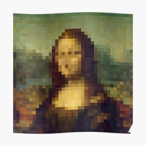 Mona Lisa - La Joconde - Pixel Poster