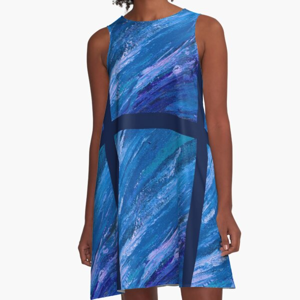 Vast Waters, Colorful Abstract Landscape, Apex by Courtney Hatcher A-Line Dress