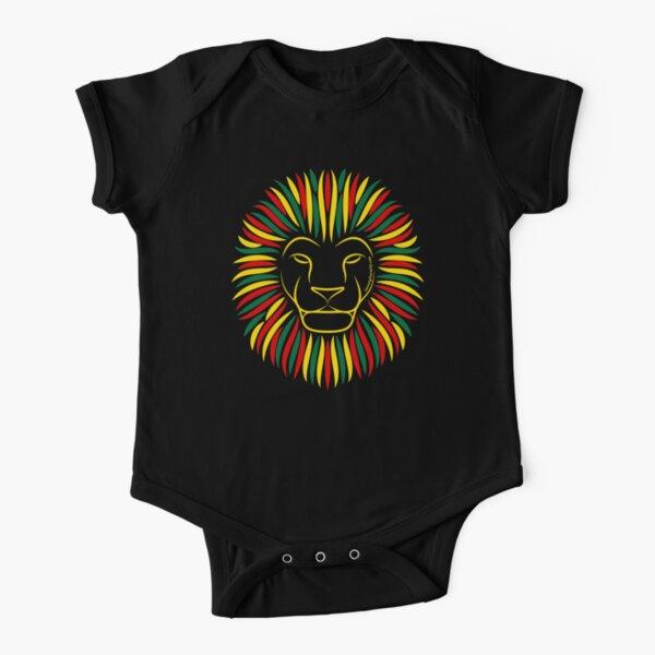 Reggae Rasta Lion | Twenty Four Wild Short Sleeve Baby One-Piece