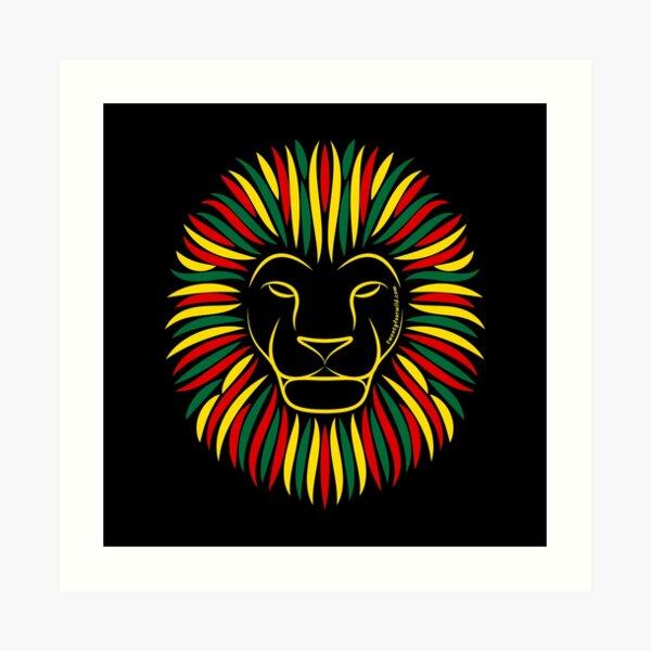 Reggae Rasta Lion | Twenty Four Wild Art Print