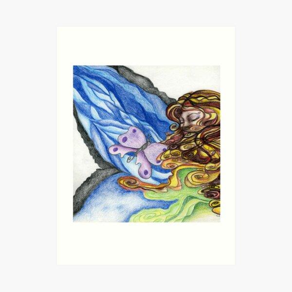 Her Wings of Love Art Print
