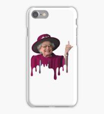 Queen Elizabeth Pimpin iPhone Case/Skin