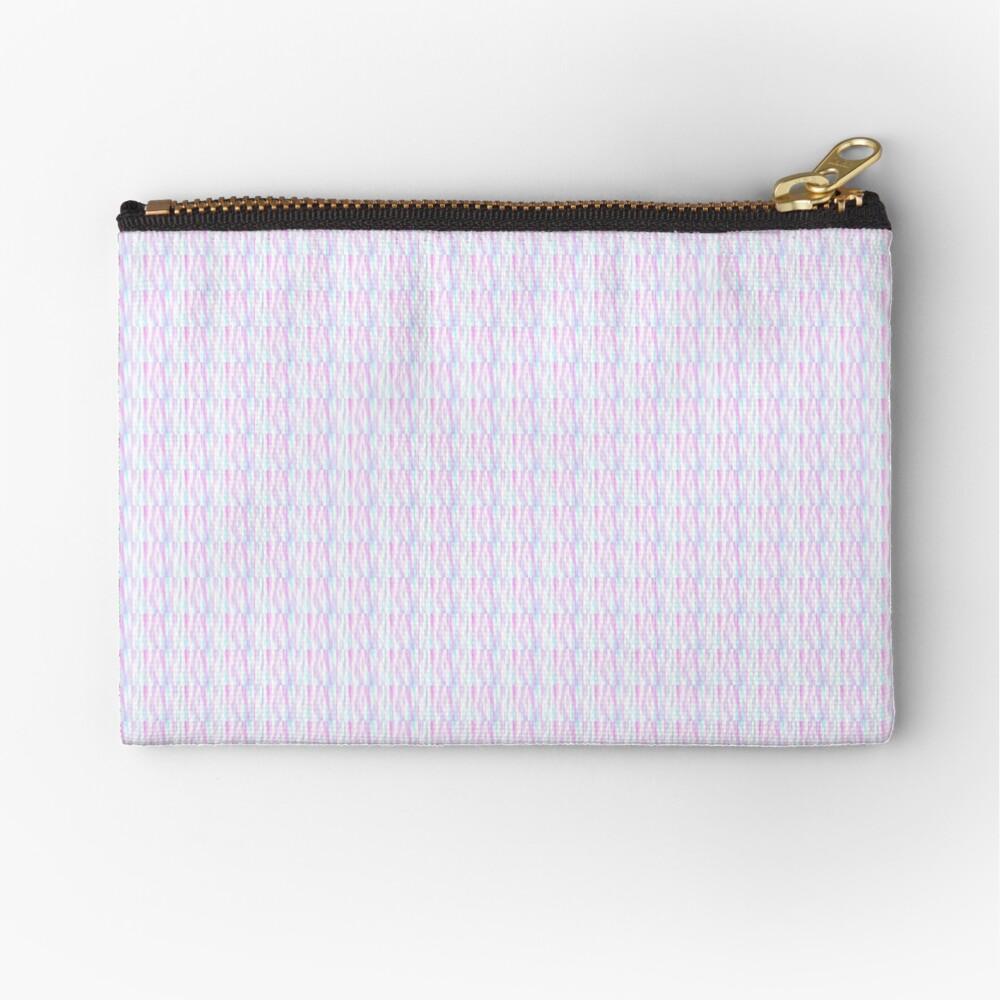 Pastel Stripes Zipper Pouch