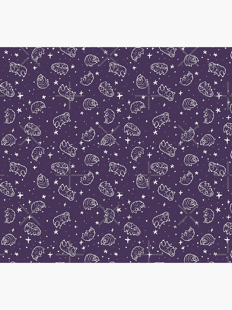 Tardigrades in Space (purple) by PicajoArt