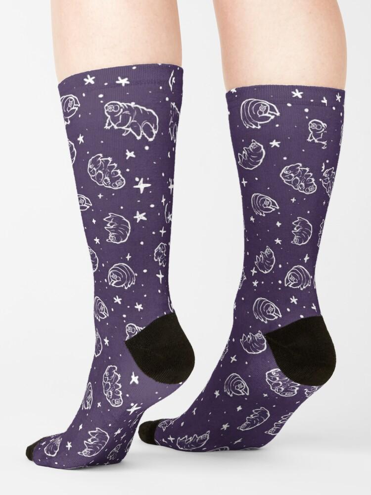 Alternate view of Tardigrades in Space (purple) Socks