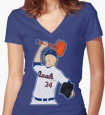 """Noah """"Thor"""" Syndergaard Women's Fitted V-Neck T-Shirt"""
