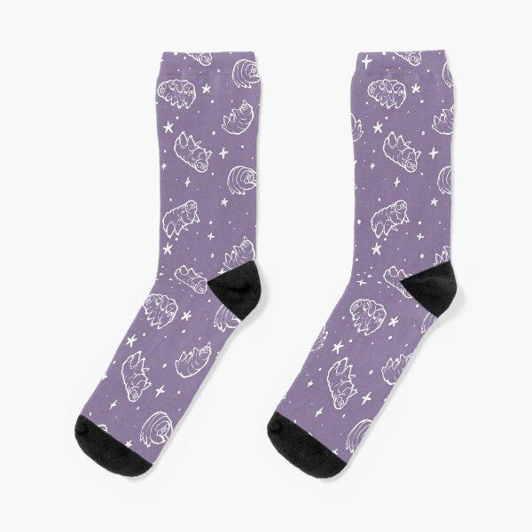 Tardigrades in Space (lavender) Socks