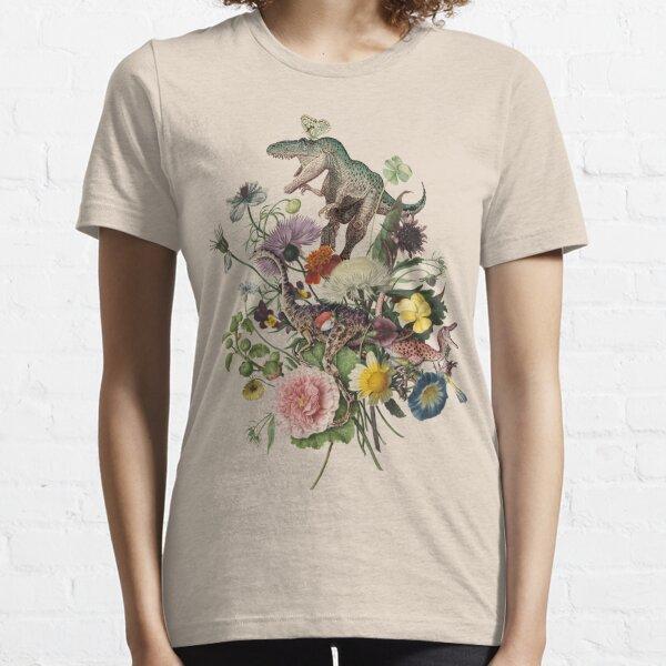 DINO-MITE Dinosaur Botanical Bouquet Essential T-Shirt
