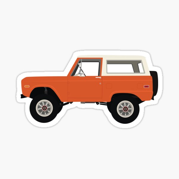 Dark Orange Ford Bronco Sticker