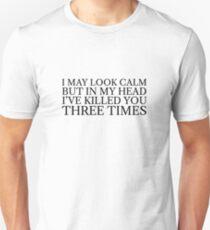 Funny Black Dark Humour Killer Weird Comedy T-Shirt
