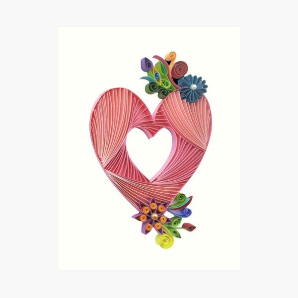 Paper Quilling Heart Art Print