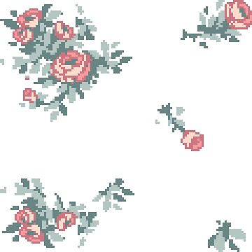 Pixel Floral Sticker Sheet by theCatghost