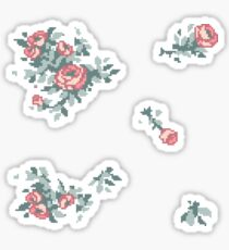 Pixel Floral Sticker Sheet Sticker