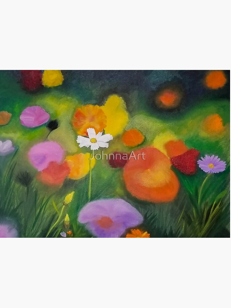 Cosmos Flower Abstract-Realism Mash Up by JohnnaArt