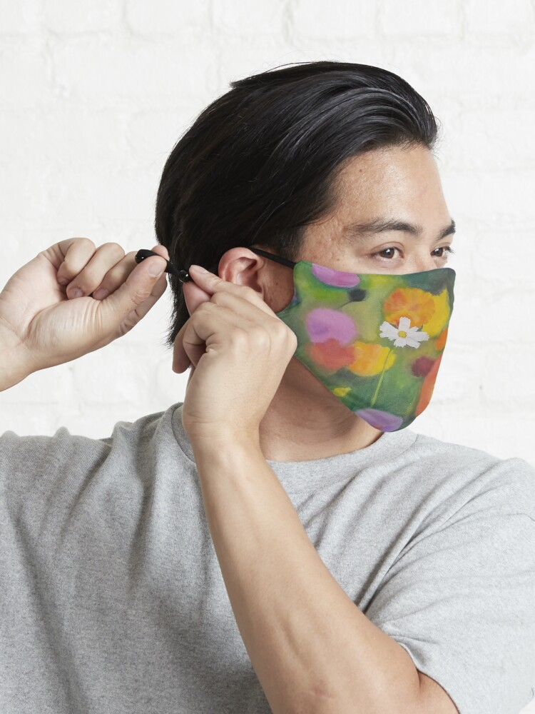 Alternate view of Cosmos Flower Abstract-Realism Mash Up Mask