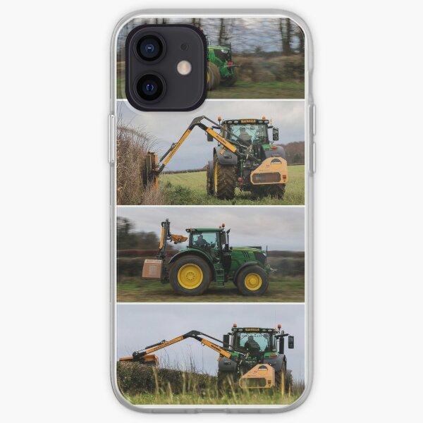 John Deere 6215R y cortasetos Mcconnel Funda blanda para iPhone