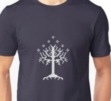 Pixel Tree of Gondor (White) Unisex T-Shirt