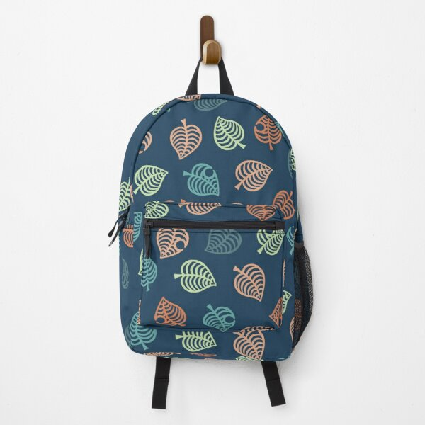 Nook Leaf Aloha Logo - Green and Orange Tropical Colors Backpack