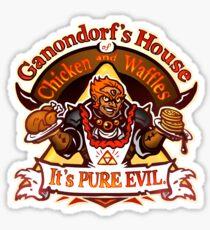 Ganondorf's House of Chicken and Waffles Sticker