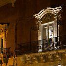 A Glimpse Through the Windows - Sicilian Baroque Palace & Venetian Chandelier by Georgia Mizuleva