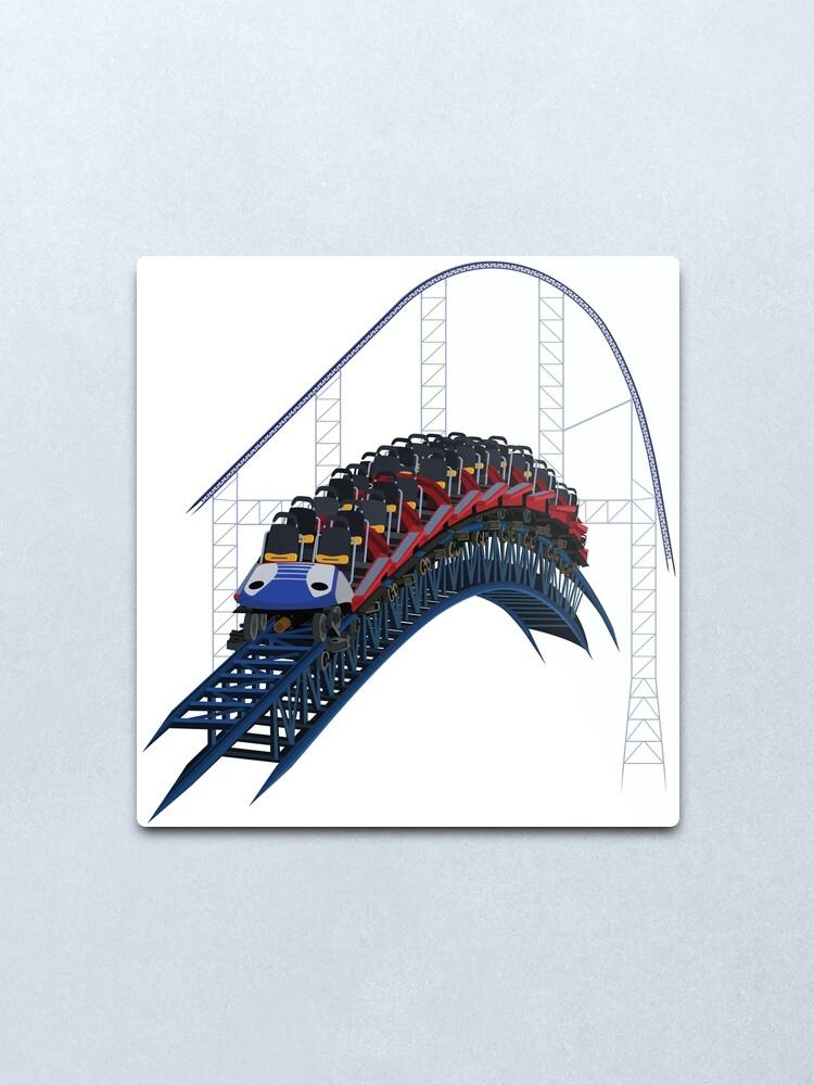 Alternate view of Millennium Forces Airtime Design Metal Print