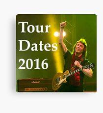 STEVE HACKETT TOUR 2016 Canvas Print