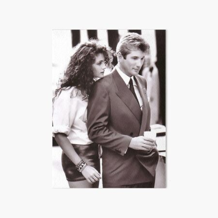 Romantic Couple Pretty Woman Julia Roberts Hollywood movie stars Art Board Print
