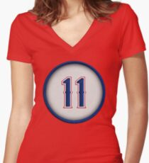 11 - Yu Women's Fitted V-Neck T-Shirt