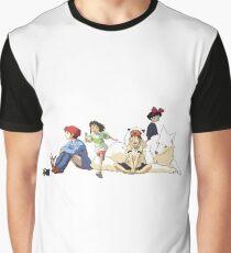 Ghibli Girls Graphic T-Shirt