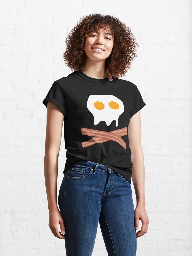 Alternate view of Eggs Bacon Skull Classic T-Shirt