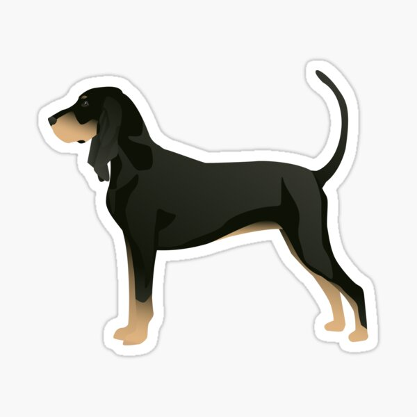 Black and Tan Coonhound Basic Breed Design Sticker