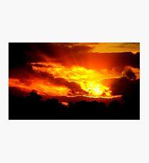 Sunset at Champion Lakes Photographic Print