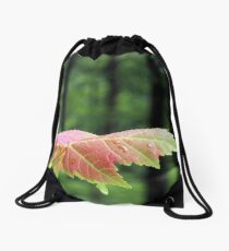 Spring Maple leaf Drawstring Bag